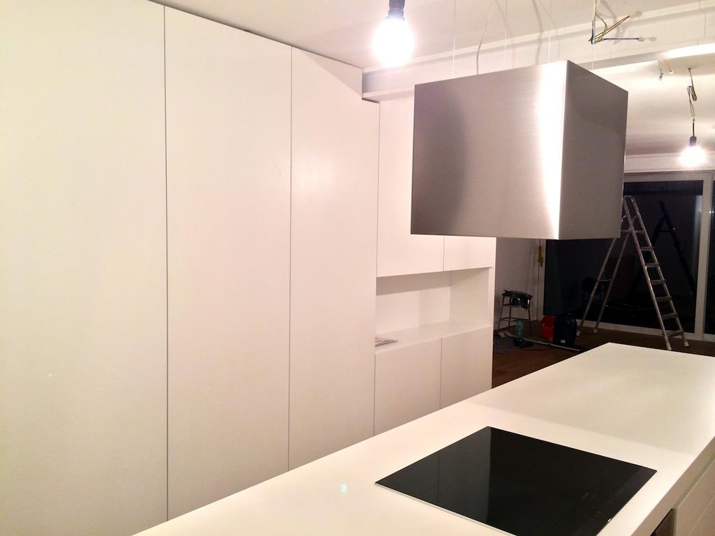 Küche in weiß matt | Schreinerei Leim&Späne München