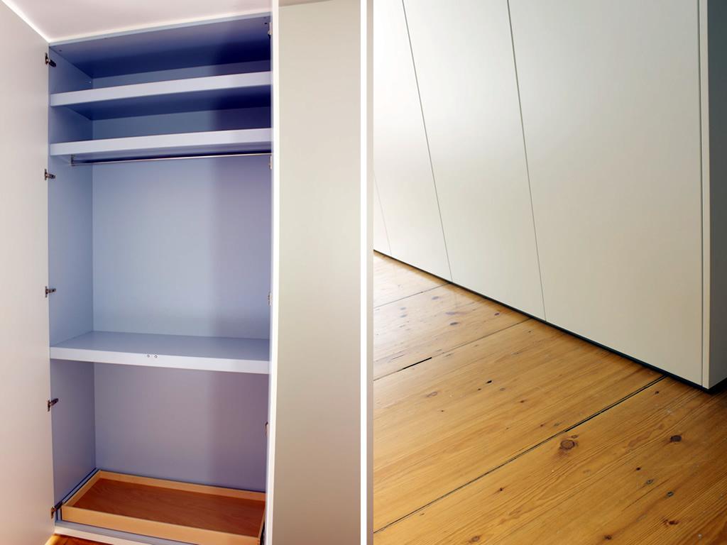 einbauschrank wei schreinerei leim sp ne m nchen. Black Bedroom Furniture Sets. Home Design Ideas