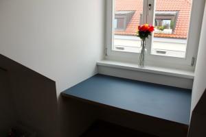 Schreinerei München, Leim&Späne - Tisch Jeans Linoleum Ansicht