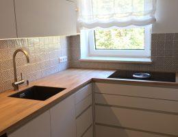 Schreinerküche mit Fenix Fronten
